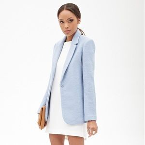 Forever 21 Blue Boucle Coat - NWT